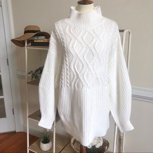 NWT A New Day XXL cable knit mock neck sweater